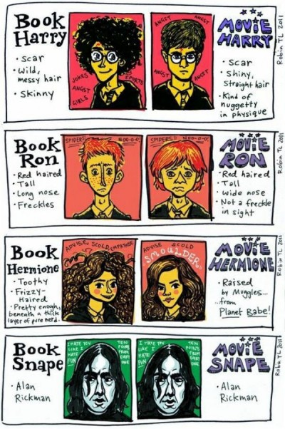 http://www.dorkly.com/post/60562/harry-potter-characters-book-vs-movie#!btVjEW